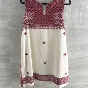 MADEWELL embroidered shift dress size 12